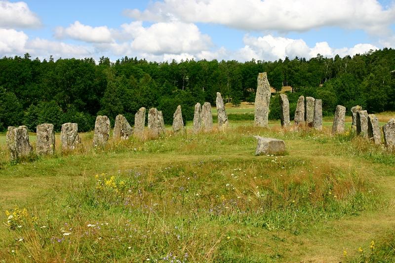 Kamenná loď Blomsholm, Švédsko.