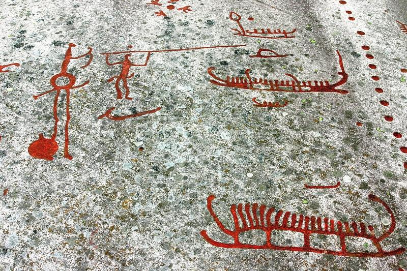 Skalní kresby v Tanumshede, Švédsko.