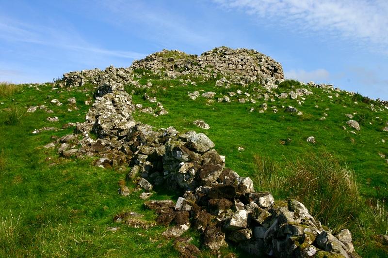 Broch dún Borrafiach, Skotsko.