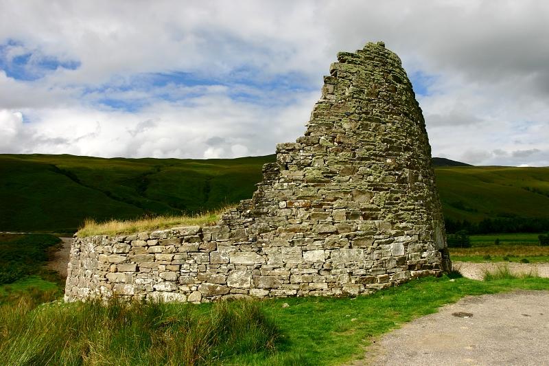Dun Dornaigil Broch, Skotsko.