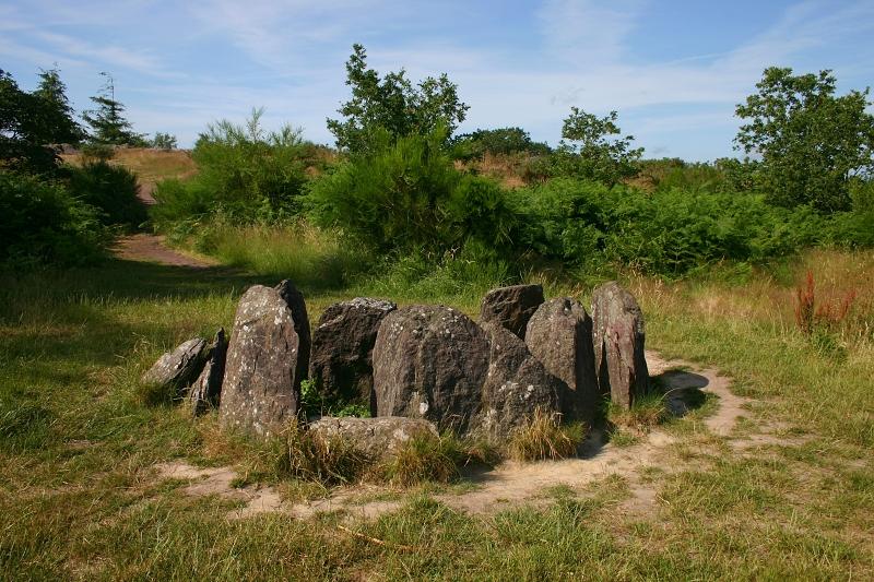 Paimpont hrobka druidů.