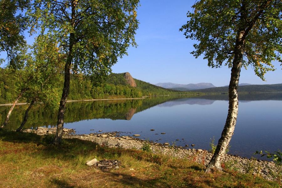 Jezero Kultsjön.