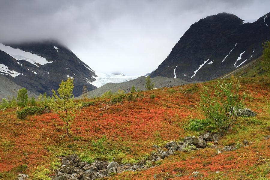 Ledovec Steindalsbreen.